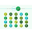 Green environment flat icons set vector image vector image