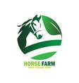 green horse farm logo design vector image vector image