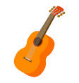 guitar icon isometric style vector image vector image
