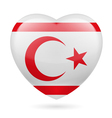 Heart icon of Northern Cyprus vector image vector image