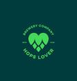 hops lover logo vector image vector image
