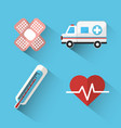 hospital medicine tools icon vector image vector image
