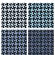 Houndstooth tile blue and black pattern set vector image vector image