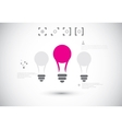 Idea concept with light bulbs vector image vector image