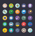 industrial and construction flat icons set vector image vector image