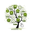 Infographic concept - tree with ecology icons for vector image vector image