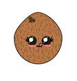 kawaii cute funny coconut fruit vector image vector image