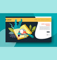 leaning online distant education web site template vector image