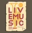 live music typographic promotion information vector image vector image