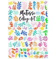 matisse style collage art graphic design vector image