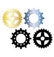 metallic gears vector image vector image