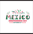 mexico independence day card national holiday vector image