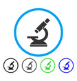 microscope rounded icon vector image vector image
