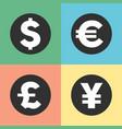 money symbols icons vector image vector image