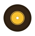 music vinyl retro icon vector image vector image