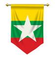 myanmar pennant vector image