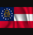 national flag georgia symbol the vector image vector image