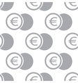 New Euro coin seamless pattern vector image vector image