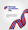 norway constitution day flag template design vector image