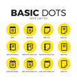 note flat icons set vector image vector image