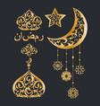 oriental golden decoration set vector image