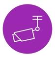 Outdoor surveillance camera line icon vector image vector image