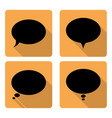 oval dialog flat icon vector image vector image