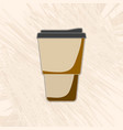 paper cup of coffee on an abstract background vector image
