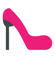 pink girl shoe icon flat style vector image vector image