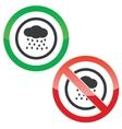 Rain permission signs vector image vector image