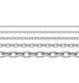 realistic seamless metal chain with silver links vector image