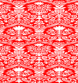 red and white seamless abstract background vector image vector image