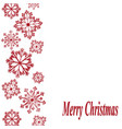 red snowflakes on white background and merry vector image vector image