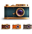 Retro Style Camera Set vector image