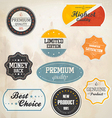 Retro styled labels vector image vector image