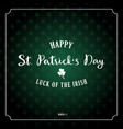 saint patricks day retro background with vector image