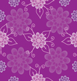 Seamless pattern lilac flowers vector image