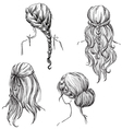 set different hairstyles vector image vector image