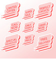 set of minimalist graphic sale stickers vector image vector image