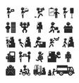 Set of postman eps10 format vector image vector image