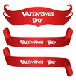 Set of three red horizontal banner With the vector image vector image