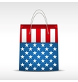 Shopping bag with USA flag vector image vector image