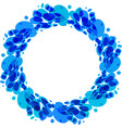 splash water ring vector image vector image