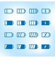 thin icon set battery charge level vector image