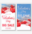 valentine s day big sale offer banner template vector image vector image