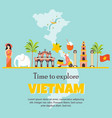 vietnam cartoon banner travel vector image vector image