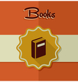 Vintage books label elements vector image vector image
