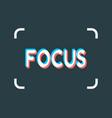 photo camera focusing screen vector image
