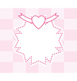Pink abstract frame background vector image