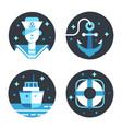 marine icon set vector image